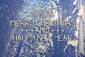 Счастливого Рождества и нового года поздравительных открыток — Стоковое фото