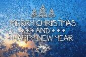 Tarjeta de felicitación de navidad y año nuevo feliz — Foto de Stock