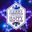 Merry Christmas and New Year greeting card — Stock Photo #60240745