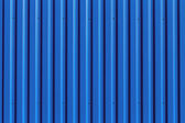 Blue metal siding wall texture — Stock Photo