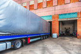 Truck or lorry repair shop service — Stock Photo