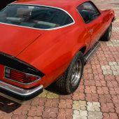 Old retro or vintage car back side — Stock Photo