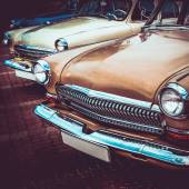 Old retro or vintage car front side. Vintage effect processing — Stock Photo