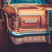 Staré retro a vintage auto přední strana. Vintage efekt zpracování — Stock fotografie