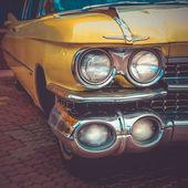 Old retro or vintage car front side. Vintage effect processing — Photo
