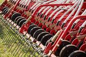 Hay rake farm machinery equipment — Stock Photo