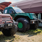 SUV or sport utility vehicles in agriculture industry — Stok fotoğraf
