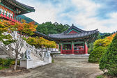Traditional architecture old building temple in Korea — Стоковое фото