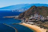 Costa ou Costa do Oceano Atlântico e a praia — Fotografia Stock