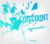 Discount background — Stock Vector