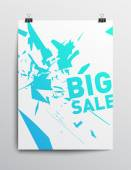 большой плакат продаж — Cтоковый вектор