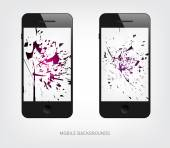 Explosion mobile backgrounds — Stock Vector