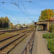 Old railroad station in Latvia — Stock Photo #55621947