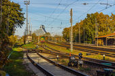 Railroad station in Latvia — Stock Photo
