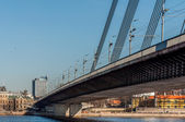 Pont à haubans à riga — Photo