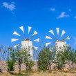 Tradition windmills on Crete island, Greece (Lassithi) — Stock Photo #58668607