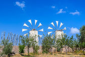 Tradition windmills on Crete island, Greece (Lassithi) — Stock Photo