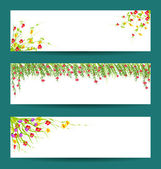 Spring and flowers — Stock Vector