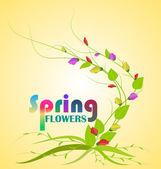 Bahar çiçekleri — Stok Vektör