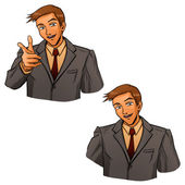 Business gesture by hand — Stock Vector