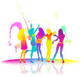 Dancing women at disco — Stock Vector