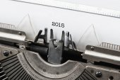 Old vintage typewriter with numbers of new year 2015 — Foto de Stock