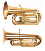 Golden tuba — Stock Photo