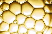 Visa på gula bubblor — Stockfoto