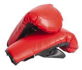 Paire de rouge en cuir gants de boxe — Photo