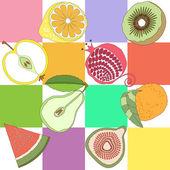 Seamless pattern fruit — Vector de stock