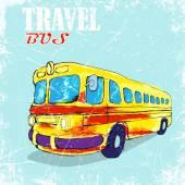 Funny yellow bus. — Wektor stockowy