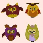 The little owl — Stock Vector
