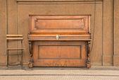 Public piano on a street in Prague — Foto Stock