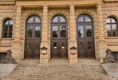 Side entrance of the Rudolfinum Concert Hall in Prague — Stock Photo