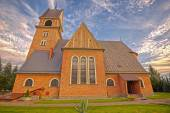Neo-Romanesque church in Skomielna Biala, Poland — Stock Photo