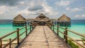 Bar i kawiarnia na wodzie w Zanzibar, Tanzania — Zdjęcie stockowe