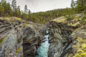 Ridderspranget (The Knight's leap) in Jotunheimen, Norway — Stock Photo