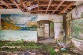 Interior of an abandoned motel, Florida — Stock Photo
