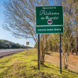Welcome to Alabama road sign — Stock Photo #67279641