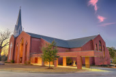 St. Columba Catholic Church, Dothan, Alabama — Stock Photo