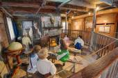 Interior of the Oldest Wooden Schoolhouse in the United States — Stock Photo