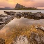 Sunset over Lofoten islands, Norway — Stock Photo #77913516