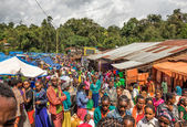 Popular and crowded african market in Jimma, Ethiopia — Stock Photo