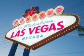 Vítejte v las vegas neonový nápis — Stock fotografie