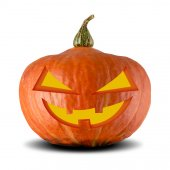 Halloween Jack O Lantern Pumpkin — Stock Photo