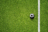 Soccer Ball On Grass Field — Stock Photo
