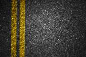 Asphalt road with yellow stripes — Stock Photo