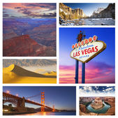 America's Iconic Travel Destinations — Stock Photo