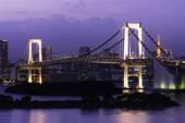 Rainbow Bridge At Night — Stock Photo