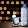 Water Bottle and Glass Of Ice Cubes — Stock Photo #64739799